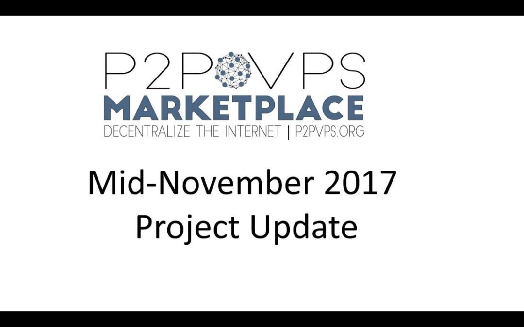 Mid-November Project Update