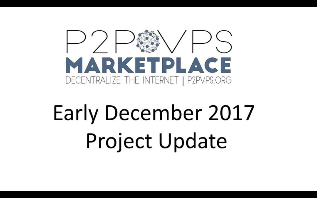 Early December Project Update