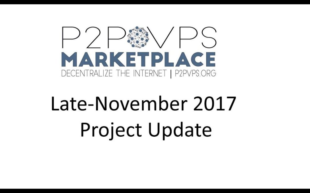 Late November Project Update