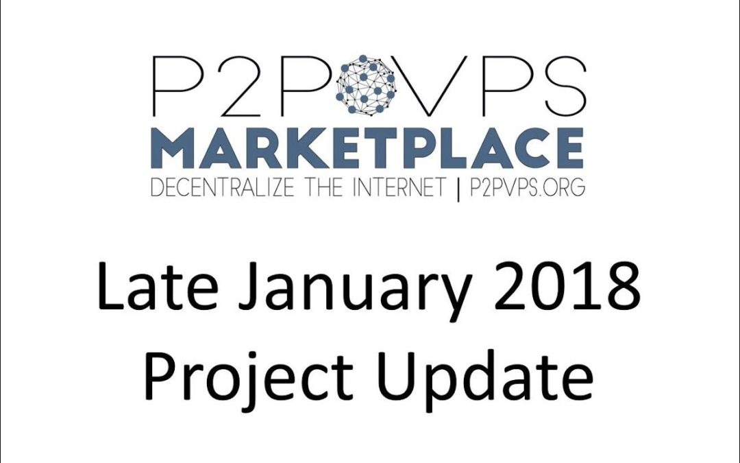 Late January 2018 Project Update
